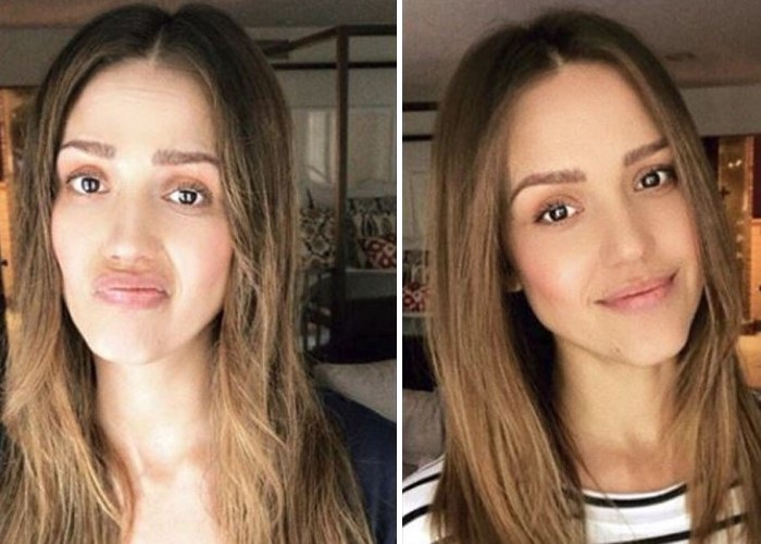 Jessica Alba Before, After Baby Cut