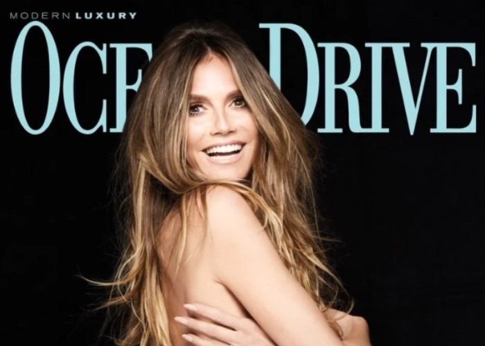 Heidi Klum Sheds Her Bikini Top in Supermodel Style for Ocean Drive (Photos!)