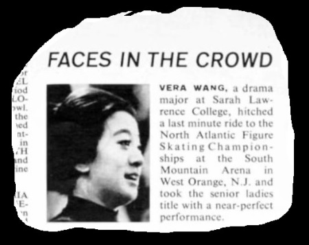 Vera Wang was featured as an up and  coming athlete in the Jan 8, 1968 issue of Sports Illustrated. (Photo: SI)